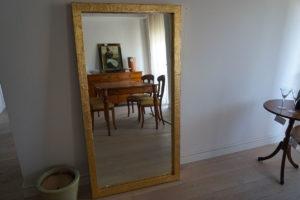 specchio vintage oro